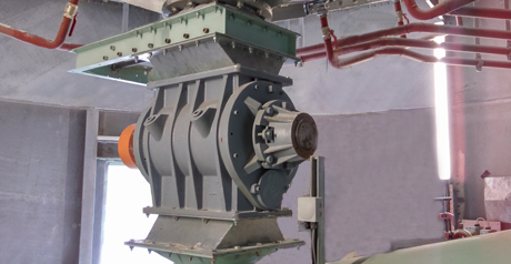 Rotary Valves in Dry Stucco Powder Processing