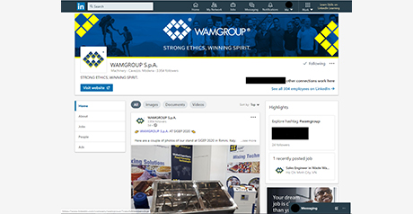 WAMGROUP HAS LANDED ON LINKEDIN (!)