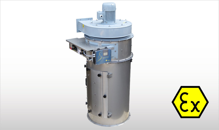 Flanged Round Dust Collectors ATEX-certified